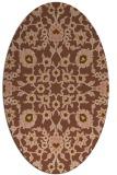 rug #969669   oval mid-brown popular rug