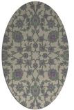 rug #969709 | oval purple traditional rug