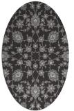 rug #969737 | oval red-orange damask rug
