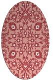 rug #969753 | oval white traditional rug