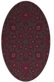 rug #969757 | oval purple rug