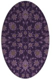 rug #969765 | oval purple damask rug