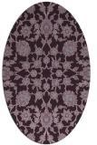 rug #969769 | oval purple damask rug