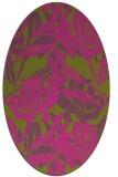 rug #96977 | oval light-green rug
