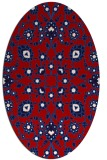 rug #969773   oval red traditional rug