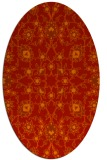 rug #969777 | oval red damask rug