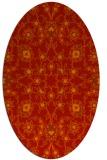 rug #969777 | oval red popular rug