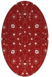 rug #969781 | oval red traditional rug