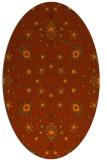 rug #969789 | oval red-orange damask rug