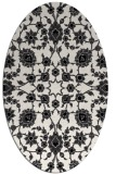 rug #969805 | oval white traditional rug