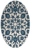 rug #969821 | oval white traditional rug
