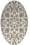 rug #969825 | oval beige natural rug