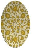 rug #969829 | oval yellow traditional rug