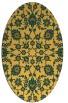 rug #969845   oval light-orange damask rug