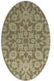 rug #969857 | oval light-green damask rug