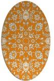 rug #969877 | oval light-orange damask rug