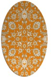 rug #969877 | oval light-orange traditional rug