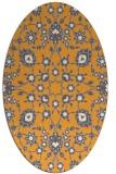 rug #969881 | oval light-orange damask rug