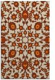 rug #969885    orange damask rug