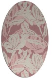 rug #96989 | oval pink rug