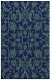 rug #969925 |  blue-green damask rug