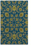 rug #969965 |  blue-green damask rug