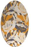 rug #96997 | oval light-orange popular rug