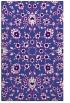 rug #969989    blue-violet damask rug