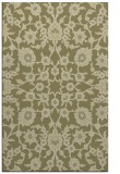 rug #970217 |  light-green damask rug
