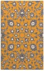 rug #970241 |  light-orange damask rug