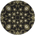 rug #970269 | round black damask rug