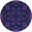 rug #970281 | round pink traditional rug