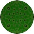 rug #970305 | round green damask rug