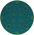 rug #970313 | round blue traditional rug