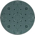 rug #970321 | round blue-green natural rug