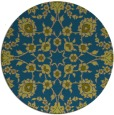 rug #970325 | round blue-green rug