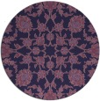 rug #970345 | round purple natural rug