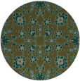 rug #970361 | round mid-brown damask rug