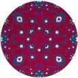 rug #970365   round red damask rug