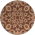 rug #970389 | round brown damask rug