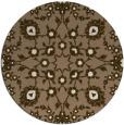 rug #970397 | round mid-brown damask rug