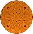 rug #970445 | round red-orange natural rug