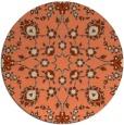 rug #970453 | round orange damask rug