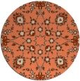 rug #970453 | round orange traditional rug