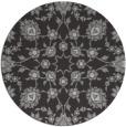 rug #970457   round orange damask rug