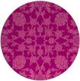 rug #970461 | round pink damask rug