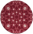 rug #970465 | round pink traditional rug
