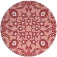 rug #970473 | round pink natural rug