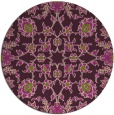 rug #970481 | round purple natural rug