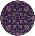 rug #970485 | round purple traditional rug